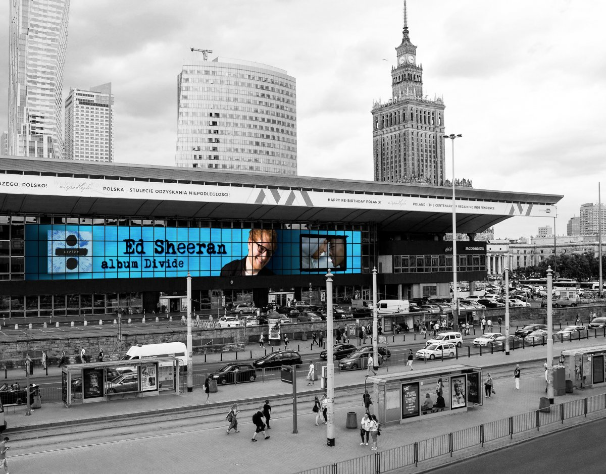 Animated Billboard, Warsaw Central Station